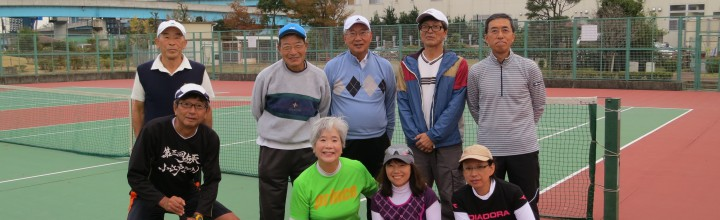 第5回懇親テニス会(10月14日 市川市クリーンスパ・テニスコート) 【開催報告】